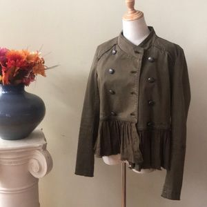 Free People Jackets & Coats - FREE PEOPLE - army green jacket Small